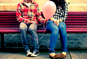 couple with ballon